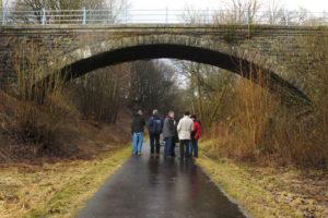 Hartmannshainer Brücke: mehrere Begehungen fanden statt.