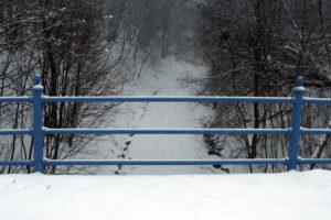 Hartmannshainer Brücke: Dort unten verlief die ehemalige Bahnlinie.