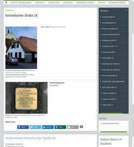 Stolpersteine: Frankfurt-Niederrad, Kelsterbacher Straße 28