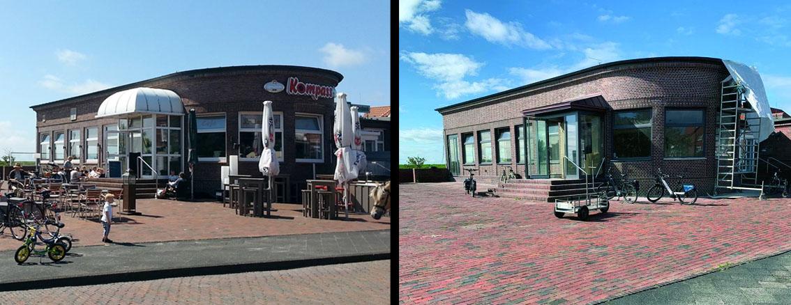 Juister Bahnhof 2018 und 2020