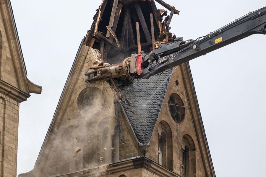 Abriss derPfarrkirche St. Lambertus in Immerath