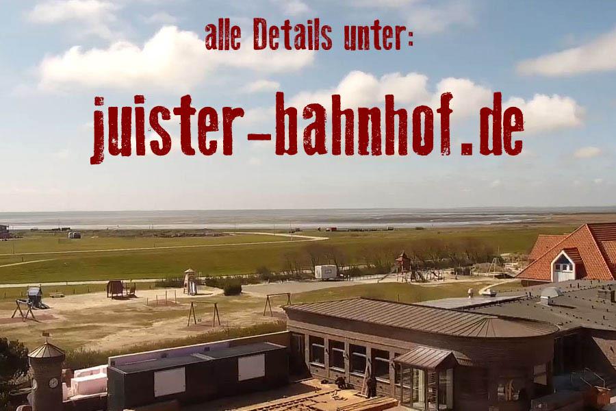 Juister Bahnhof: illegale Umbauarbeiten