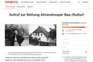 Kleinhempel-Haus bei change.org