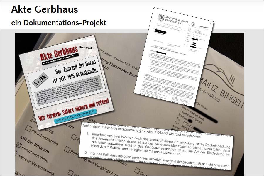 Akte Gerbhaus: ein Dokumentations-Projekt