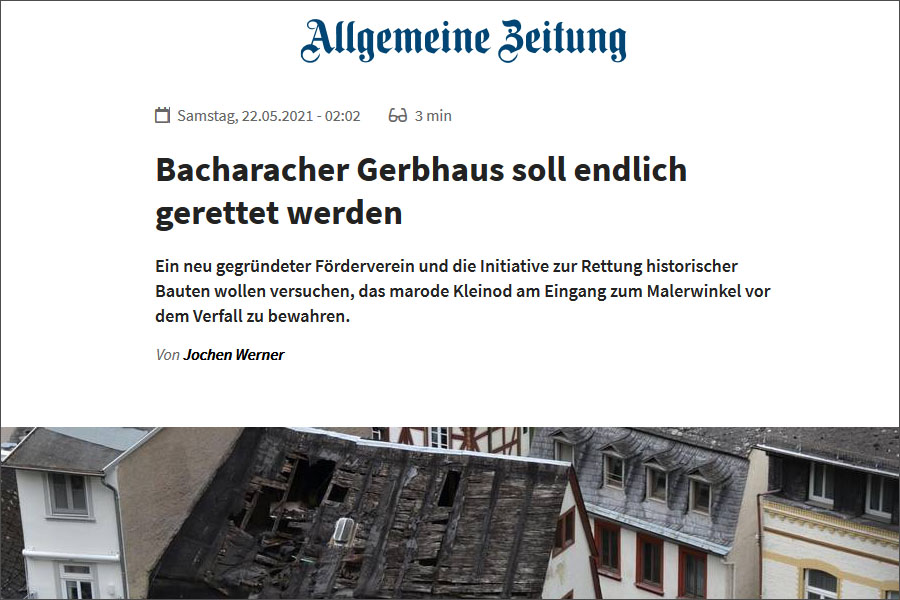 Allgemeine Zeitung, Bacharacher Gerbhaus