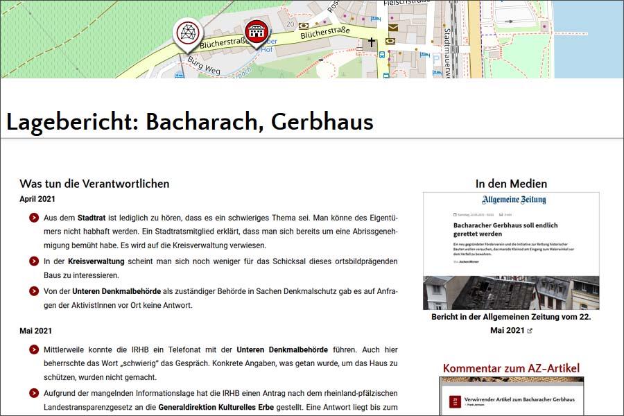 Lagebericht: Bacharacher Gerbhaus