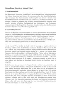 Bürgerforum Historische Altstadt Unkel: Pressemitteilung