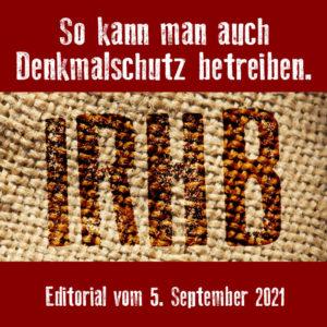 Editorial: Frank Jermann, 5. September 2021