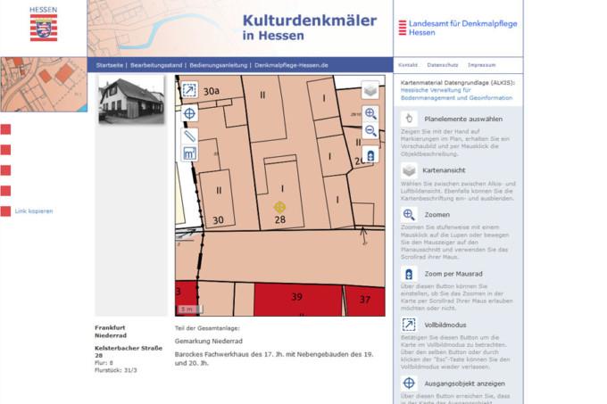 Laut Denkmalamt ist es ein barockes Fachwerkhaus des 17. Jahrhunderts (Screenshot: denkxweb.denkmalpflege-hessen.de)